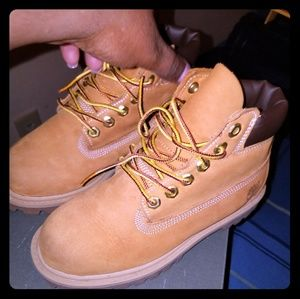 Boys Wheat Colored Timberland Boots